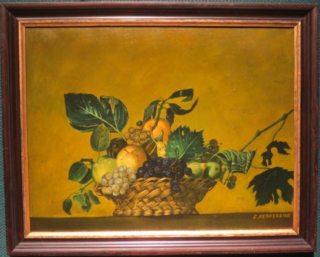 Kenderdine copy of Caravaggio basket of fruit1